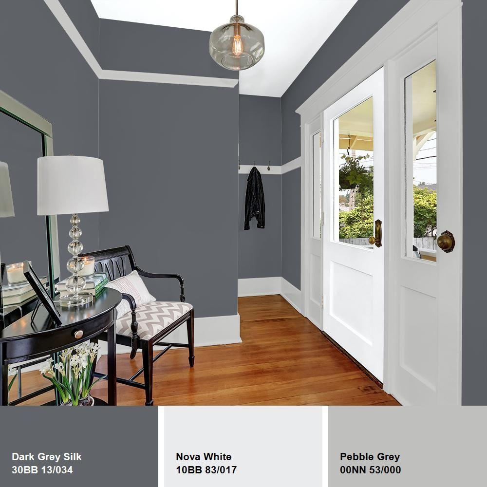 Glidden Essentials 1 Gal Hdgcn39d Dark Grey Silk Semi Gloss Interior Paint Hdgcn39de 01sn Trendy Home Decor Home Flat Interior
