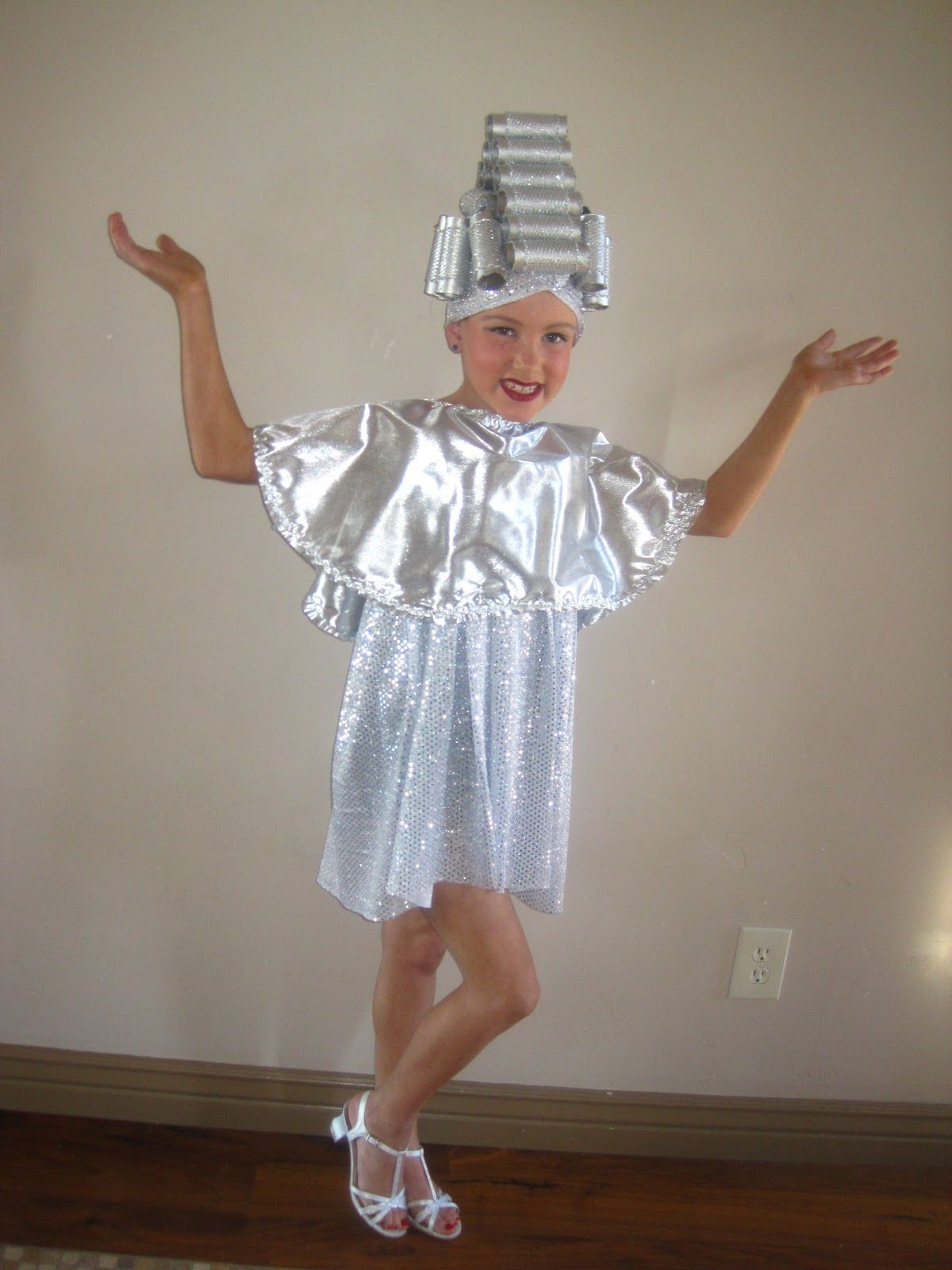 Beauty school dropout, grease costume. Silver lamé and ...