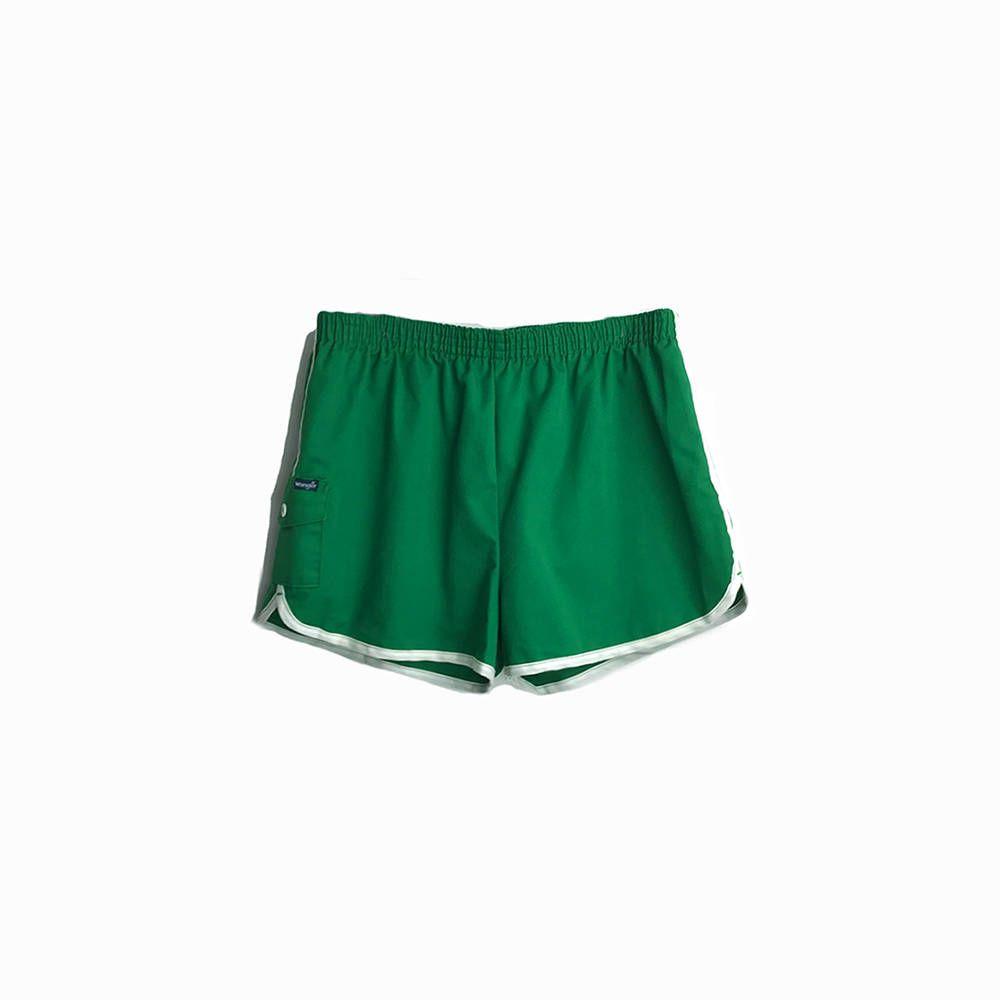 Vintage 70s Mens Leprechaun Green Athletic Shorts Retro Track Wrangler Running