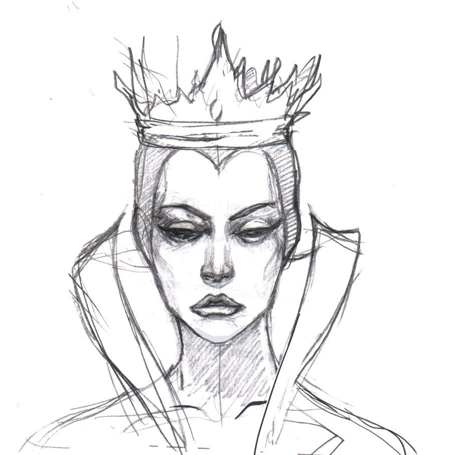 Queen sketch drawing