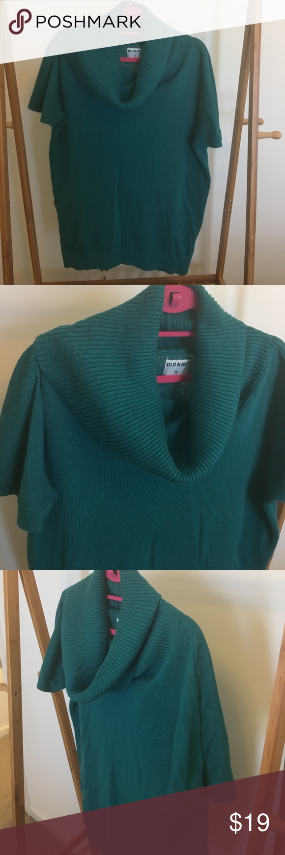 Old Navy Women's Plus Cowl Neck Sweater, 2X | Cowl neck, Teal blue ...