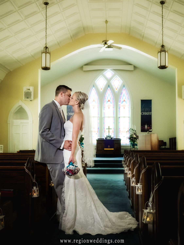 wedding at united methodist church in hebron, indiana | wedding