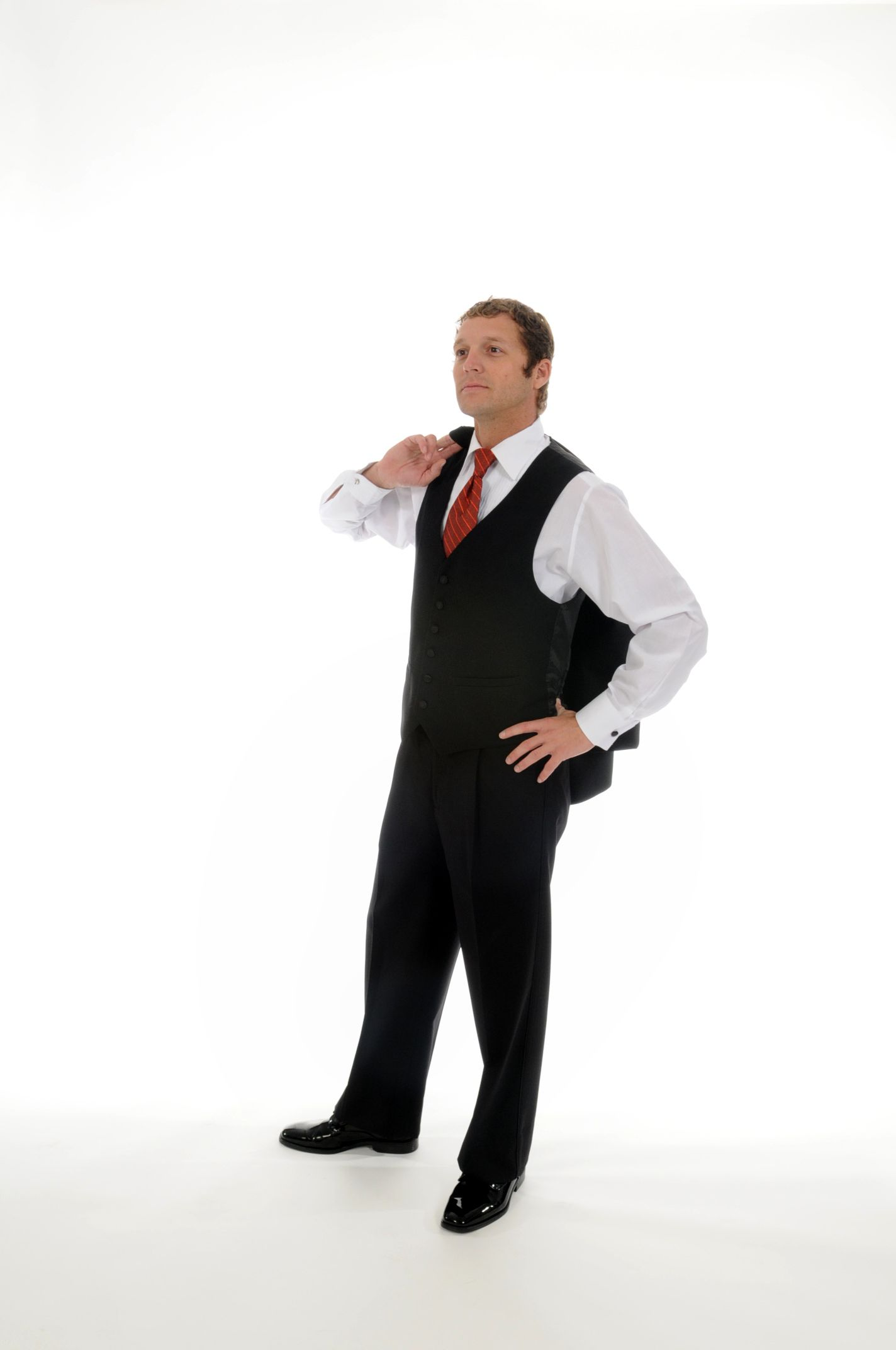 Black 1 button notch lapel tailcoat and pleated pants for Tuxedo shirt black buttons