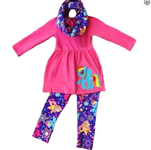 My Little Pony Boutique Outfit FREE MATCHING SCARF girls set school fall  autumn a3af096c7
