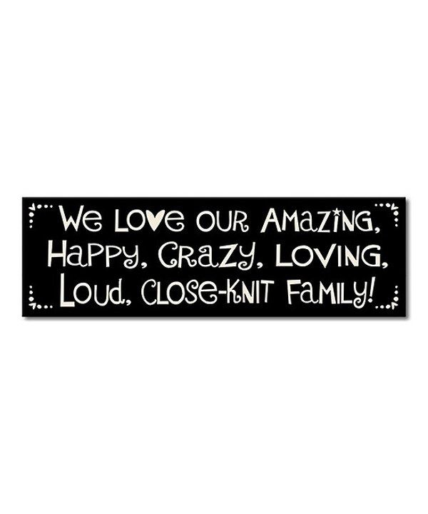 Look at this My Word! 'We Love Our Crazy Family' Sign on #zulily today!