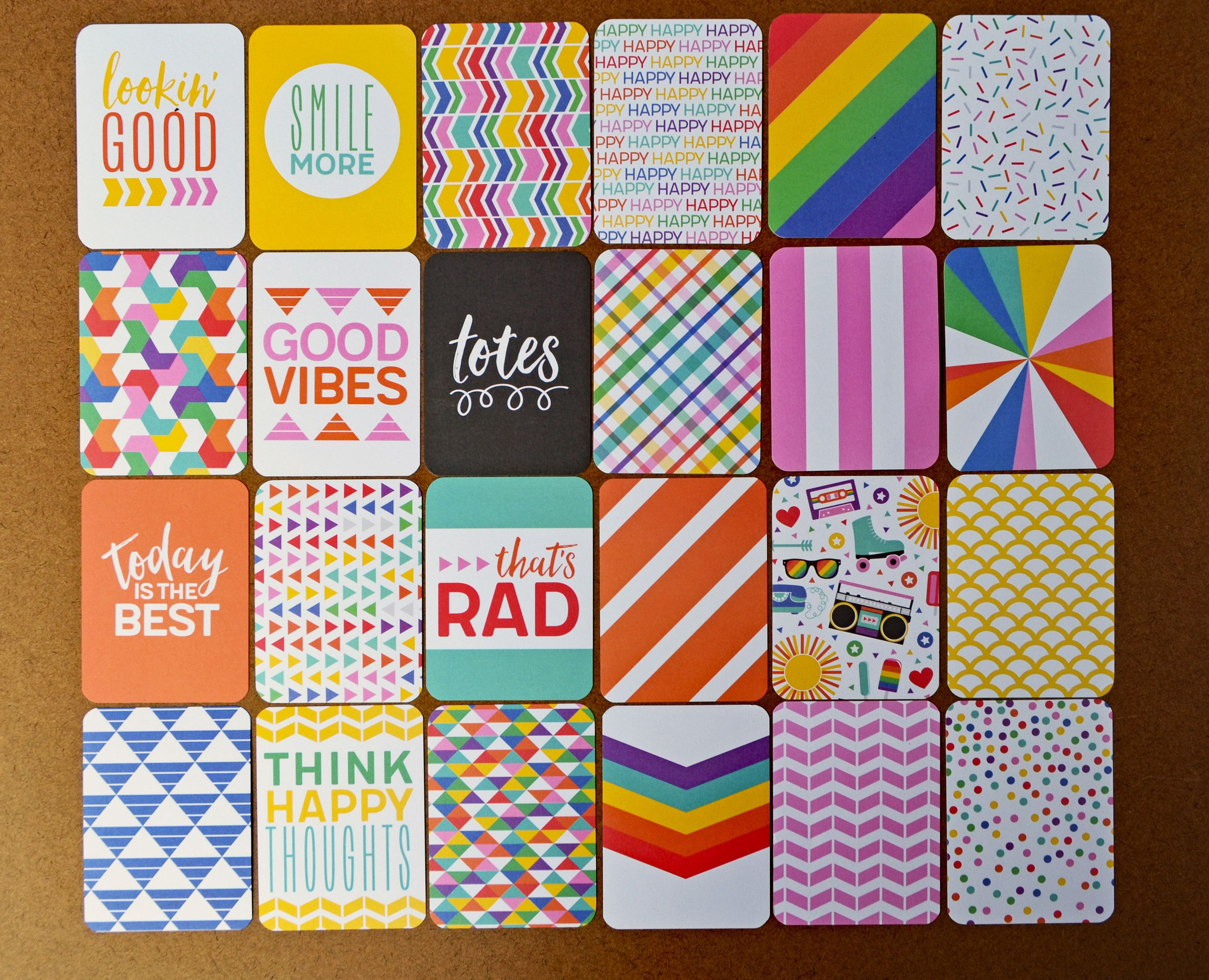 """/'HAPPY PLACE/' PROJECT LIFE CARDS BY BECKY HIGGINS 3/"""" X 4/"""" 50 CARDS"""