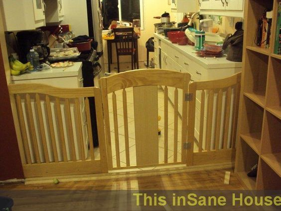 A Diy Tutorial For Making A Baby Gate For A Large Opening Using A