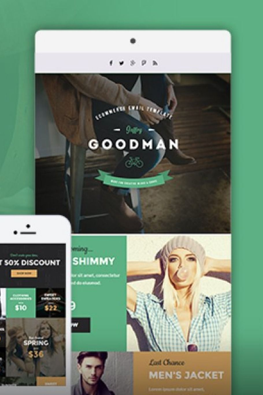 Jg E Commerce Newsletter Template With Images Email Templates Newsletter Templates Email Marketing Template