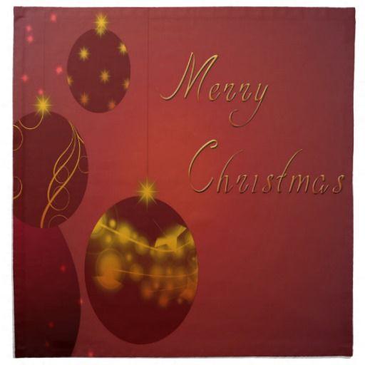 Red Merry Christmas Cloth Napkins