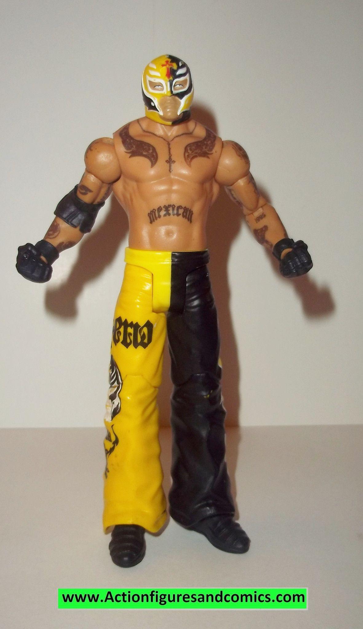 Wrestling Wwe Action Figures Rey Mysterio Yellow Black Mattel