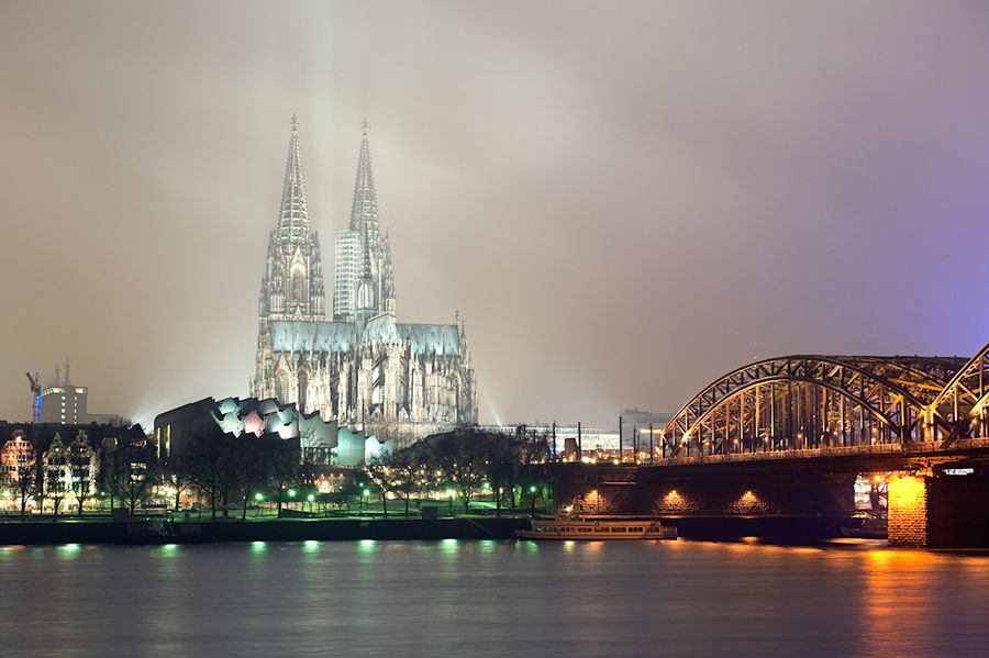 Cologne's Biggest..... Cologne Dom and Rhine river, Germany.