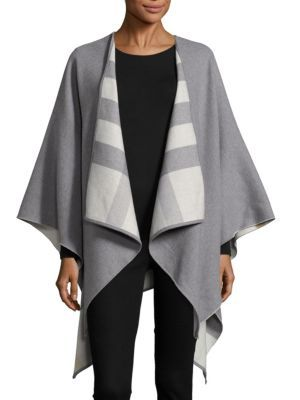 83b901a42 Burberry - Charlotte Reversible Check Wool Cape | My Style | Wool ...