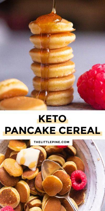 Low Carb Pancake Cereal (Mini Pancakes!)