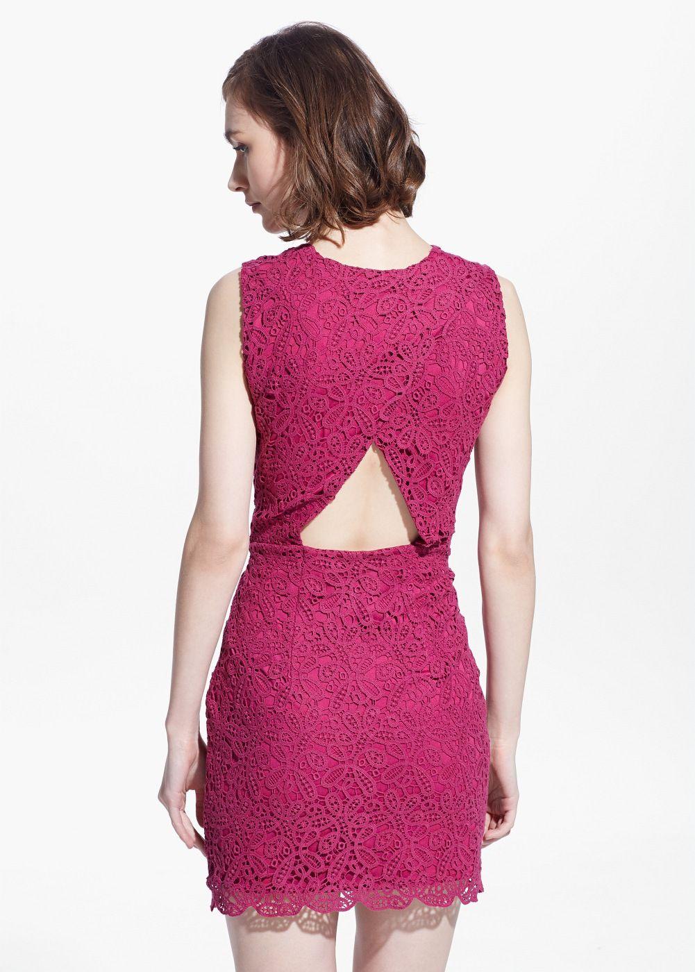 Cut-out guipure dress - Women | Vestido guipur, Aberturas y Vestiditos
