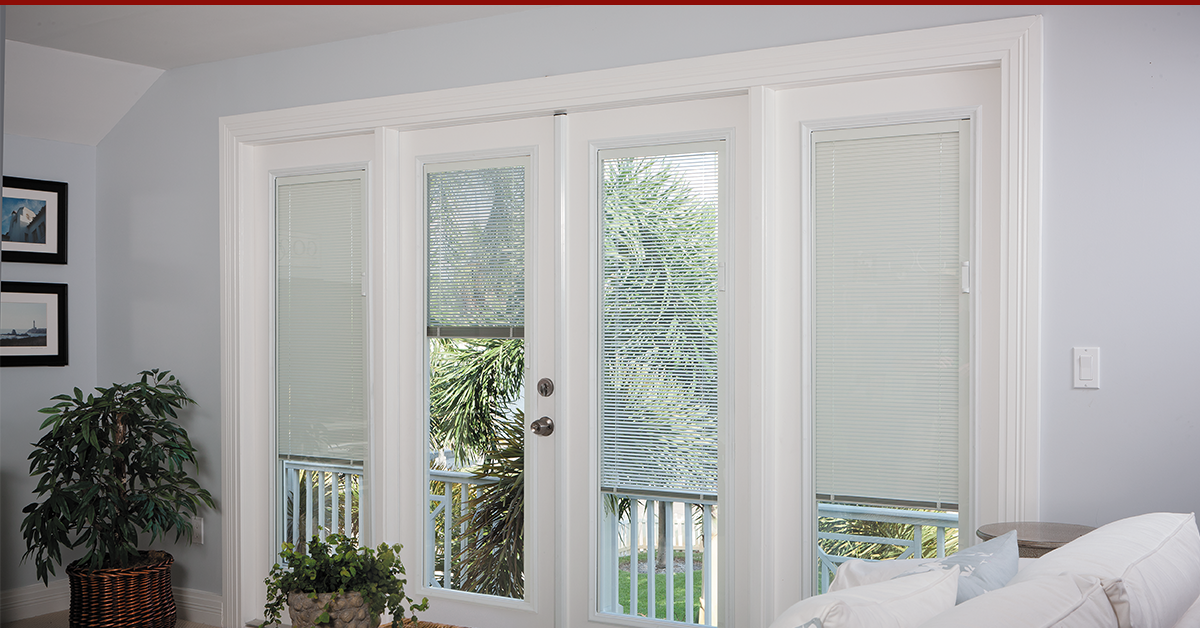 Enclosed Blinds Already Come Ready To Go In Double Or Triple Pane Glass That Means Instead Of Adding Ad Patio Doors French Doors Patio French Doors Interior