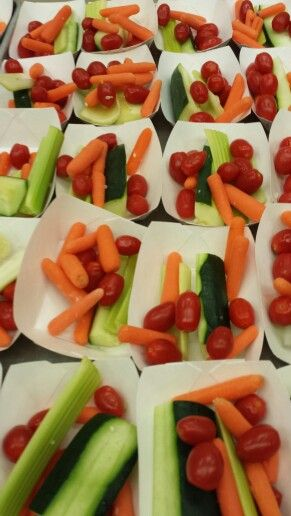 Veggie choices at summer lunch.