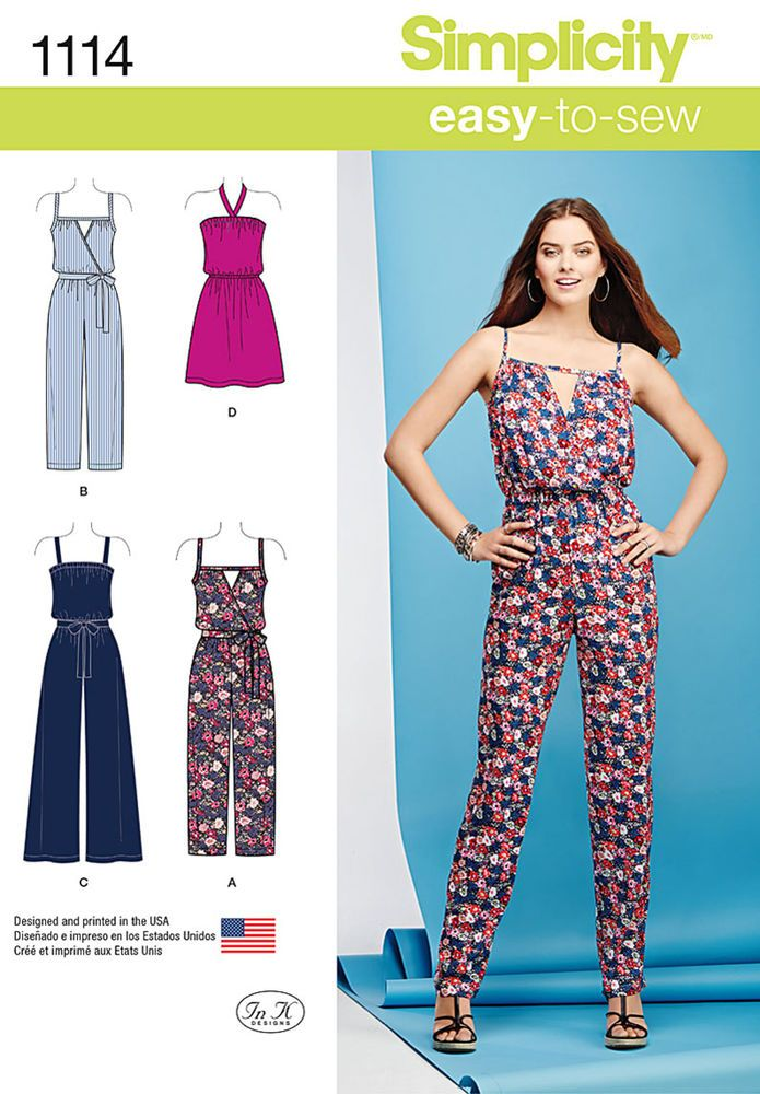 misses\' easy-to-sew pattern features mini dress with halter ties ...