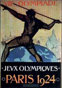 Olympic Games Poster 1924 Paris Design by Orsi.