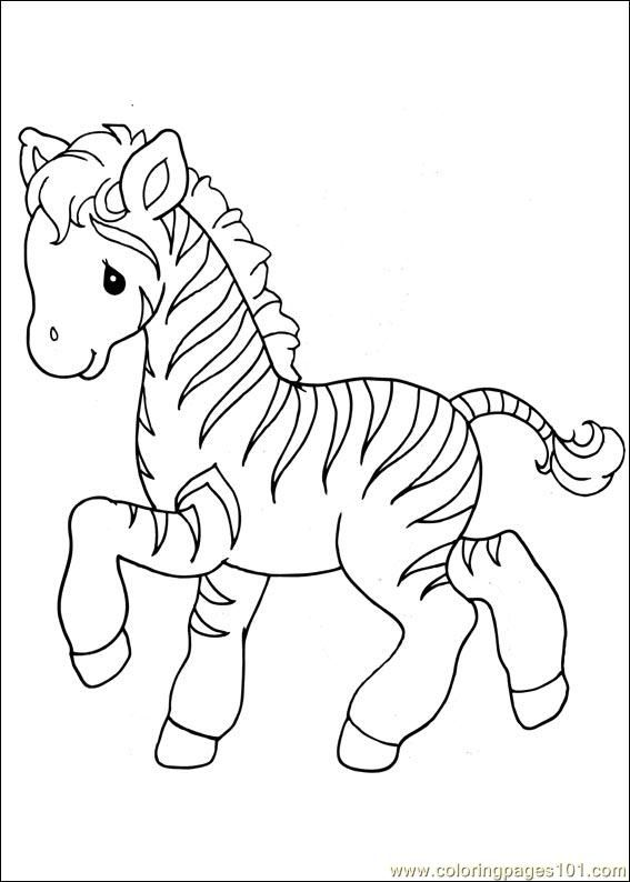 Baby Zebra Hand Embroidery Precious Moments Coloring Pages