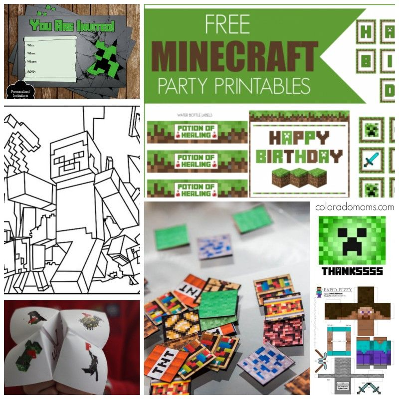 minecraft party invitations free printable FreeMinecraft