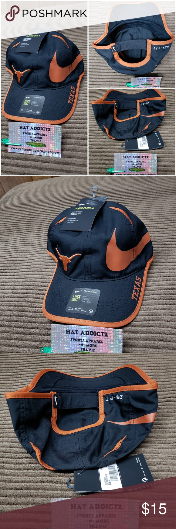 brand new e3a32 ade18 Texas Longhorns Nike NCAA dri-fit adjustable hat Brand new with tags Texas  Longhorns Nike NCAA dri-fit featherlight adjustable hat Nike Accessories  Hats