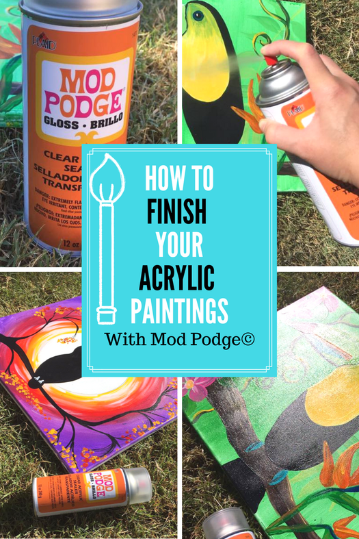 Can I Put Mod Podge Over Acrylic Paint : podge, acrylic, paint, Finish, Acrylic, Paintings, Podge, Canvas, Painting, Tutorials,, Painting,