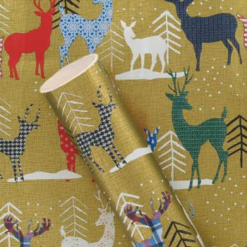3m patterned stags roll wrapping paper