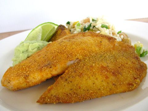 Photo of Cornmeal Crusted Tilapia W/ Avocado Cream – Clean & Delicious with Dani Spies