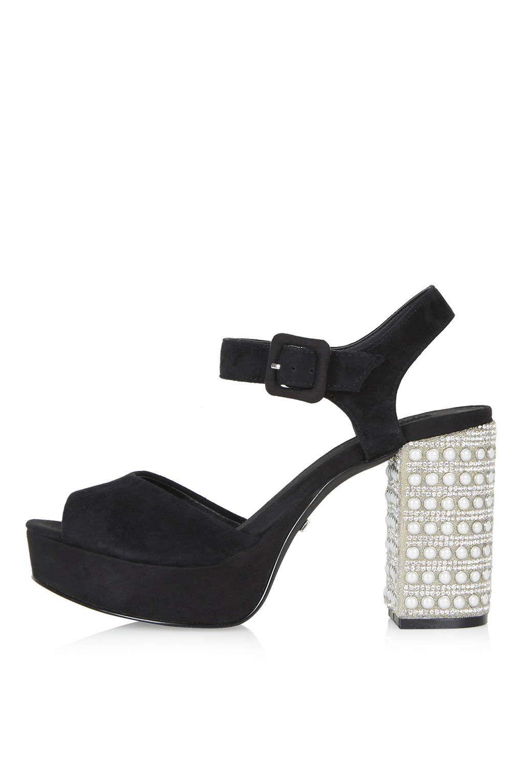 Black jelly sandals topshop - Heels