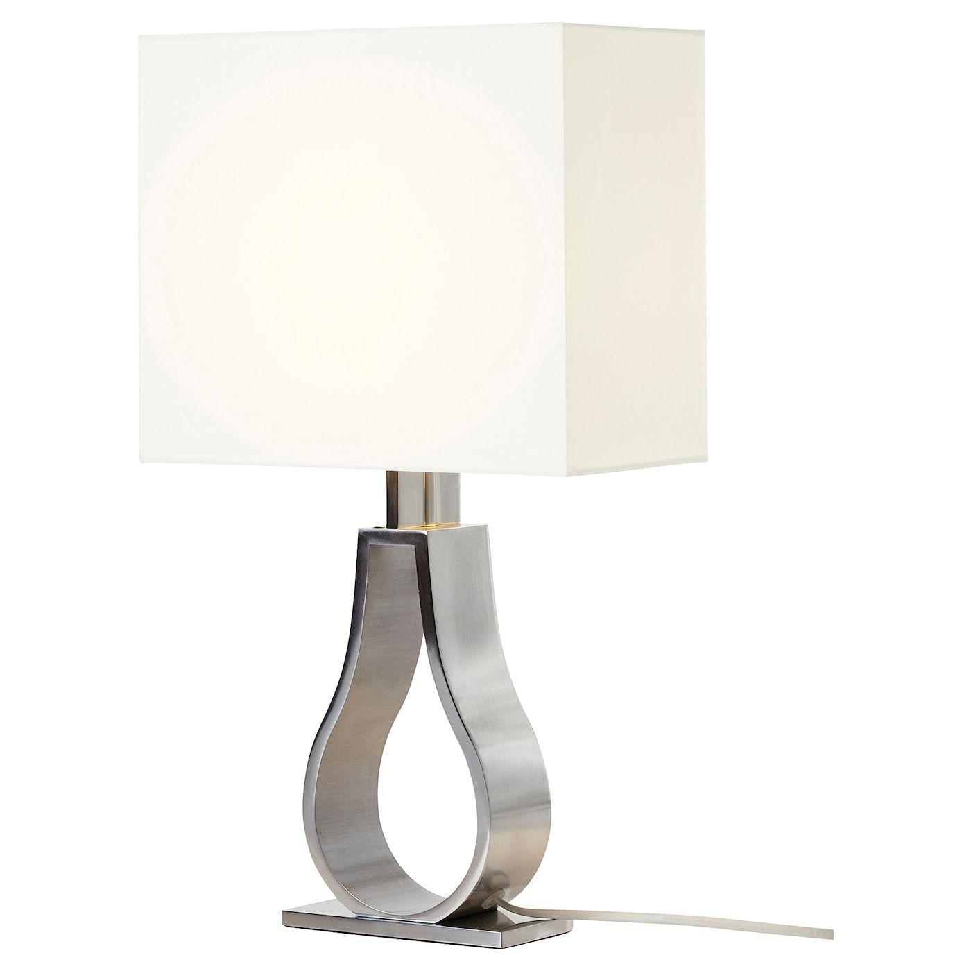 Klabb Tischleuchte Elfenbeinweiss Vernickelt Ikea Osterreich In 2020 Table Lamp Lamp Unique Lamps