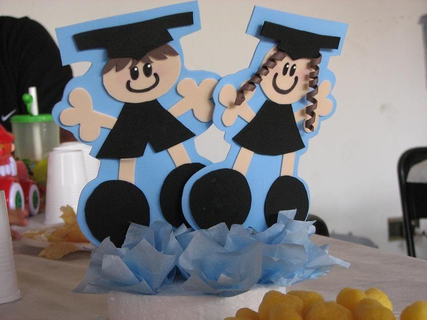 Centro de mesa graduacion fiestaideas grados - Mesas para dibujar ...