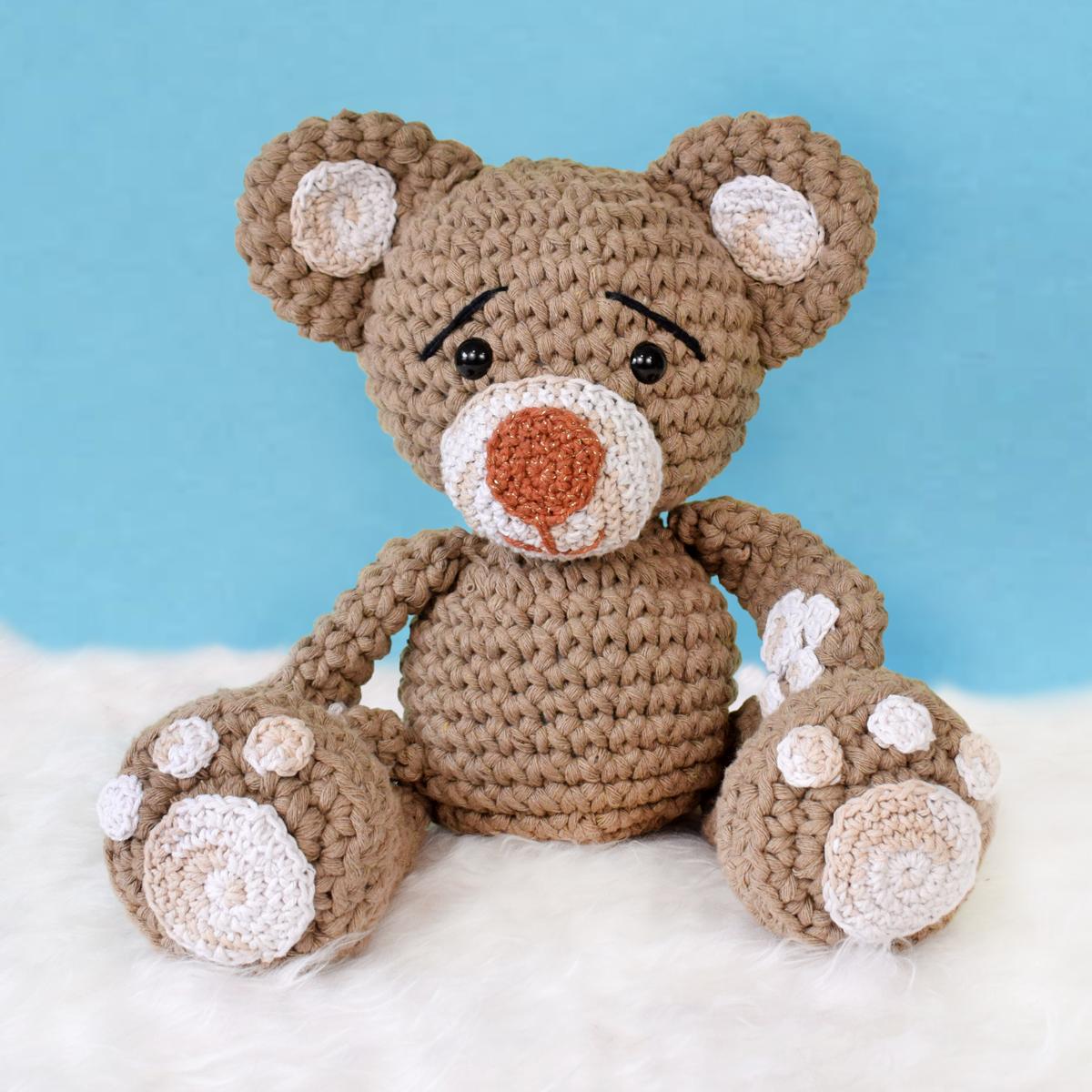 Urso Amigurumi Maxi Em Crochê - R$ 99,00 em Mercado Livre | 1200x1200