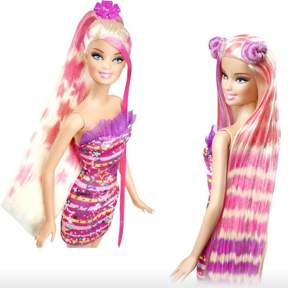 Color And Design Salon Barbie.Barbie Toys 5y Hair Tastic Color And Design Salon Doll