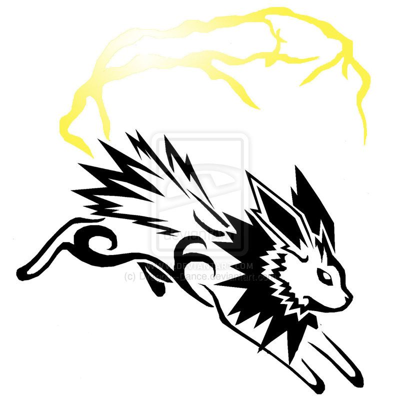 jolteon tribal  Pokemon  Pinterest  deviantART Tattoo and Pokmon