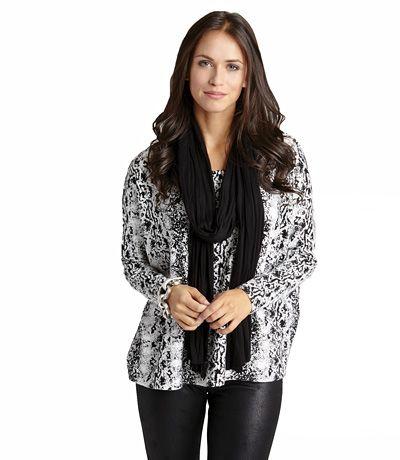 Karen Kane Printed Pullover Sweater