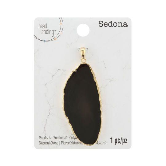 Sedona Black Agate Slice Pendant By Bead Landing Agate Slice Pendant Black Agate Agate Slice