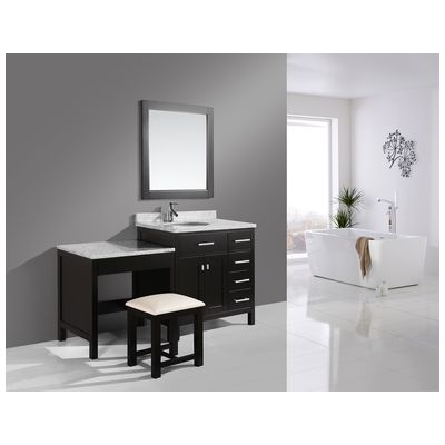 espresso makeup vanity set. Best Deal  Design Element London Single Sink Vanity Set in Espresso with One Make up table 36