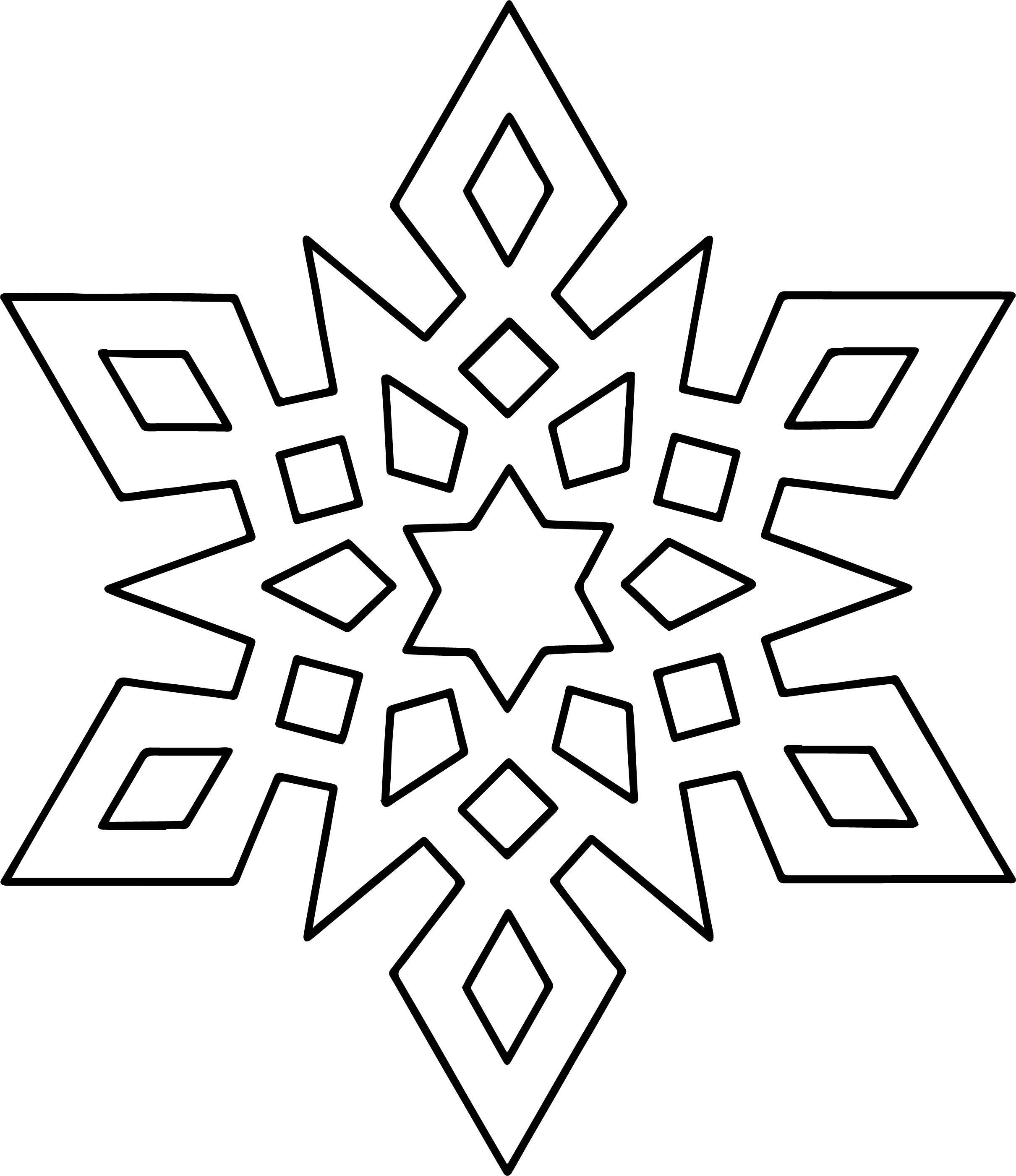 Nice Crystal Snowflake Coloring Page Snowflake Coloring Pages Mandala Coloring Pages Christmas Coloring Pages