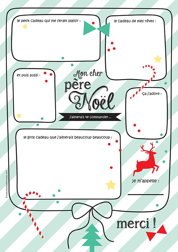Mon cher p re no l free printable no l impressions gratuites christmas free printable - Liste pere noel imprimer ...