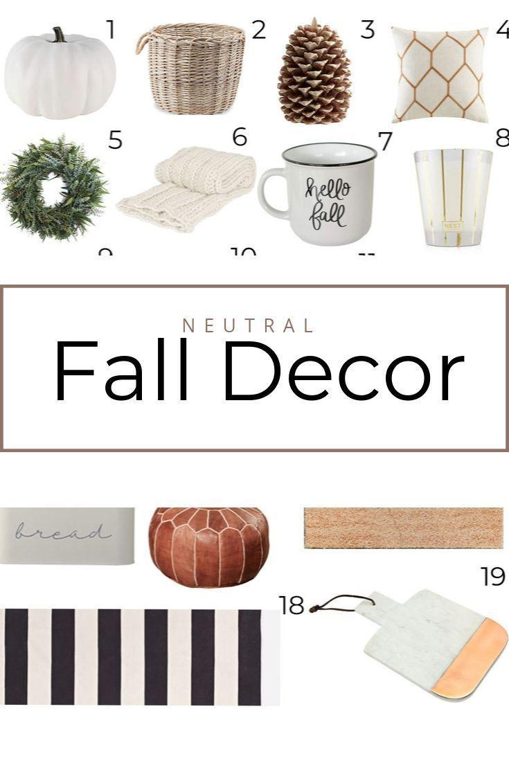 Neutral Fall Decor! #FallDecorIdeas #HomeDecorIdeas #HomeDecorInspo #FallDecorInspo