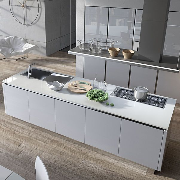 Cucina moderna / in alluminio / in vetro / in laminato BIJOU ARAN ...