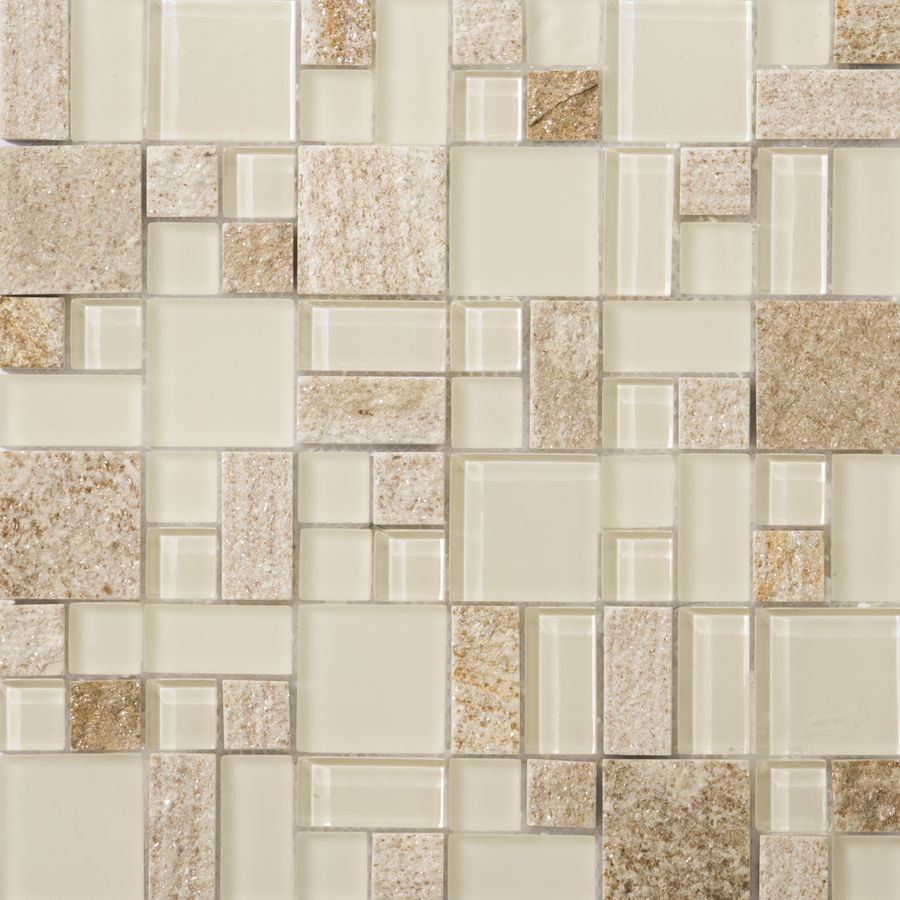 Lowes Decorative Tile Shop Emser 12In X 12In Lucente Servolo Glass Wall Tile At Lowes