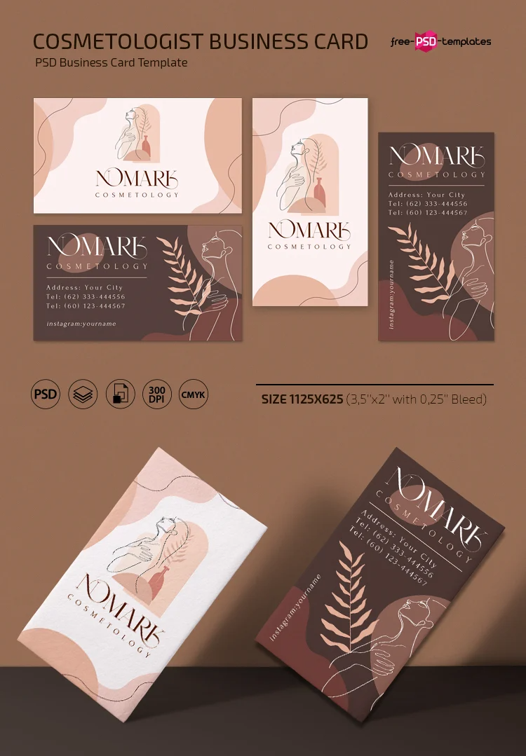 Free Cosmetologist Business Card Template In Psd Free Psd Templates Cosmetologist Business Cards Business Card Template Business Card Psd
