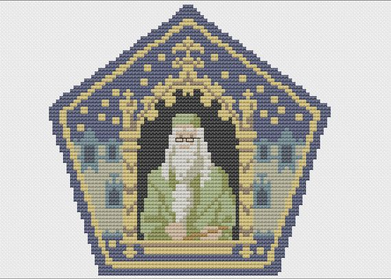 Pattern is based off of the chocolate frog wizard cards from the magical world of Harry Potter. Purchase includes 2 different types of charts