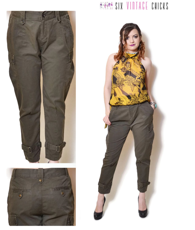 664f8888 cigarette pants women 90s clothing boho pants high waisted vintage ...