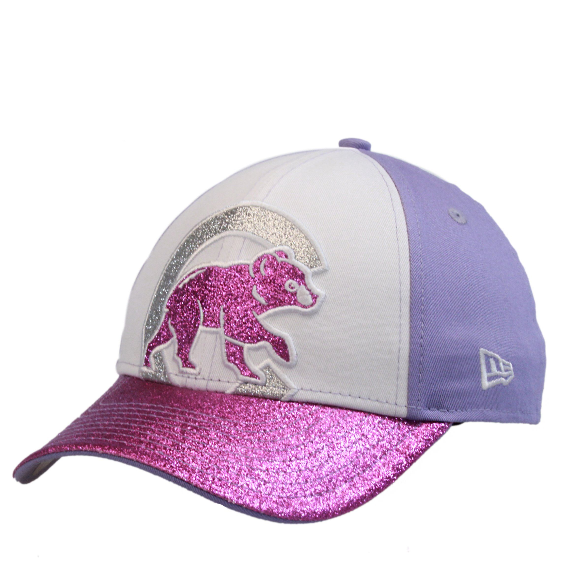 fe246375b Chicago Cubs Youth White/Purple Walking Bear Shimmer Hat   Products