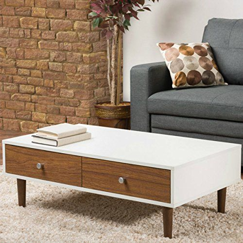 Contemporary White Coffee Table with Storage for Your Modern Living