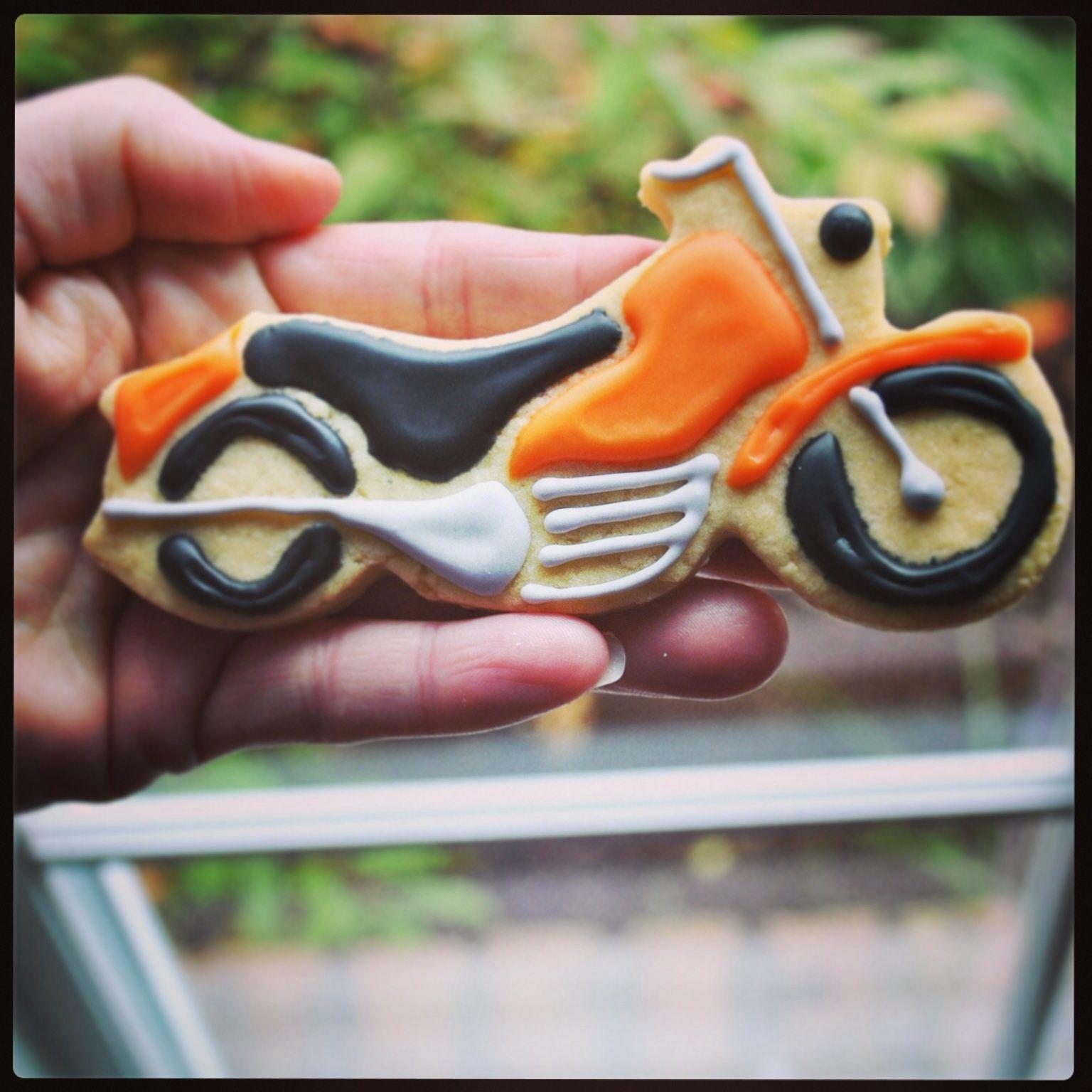 Motorcycle Cookies. Cookies