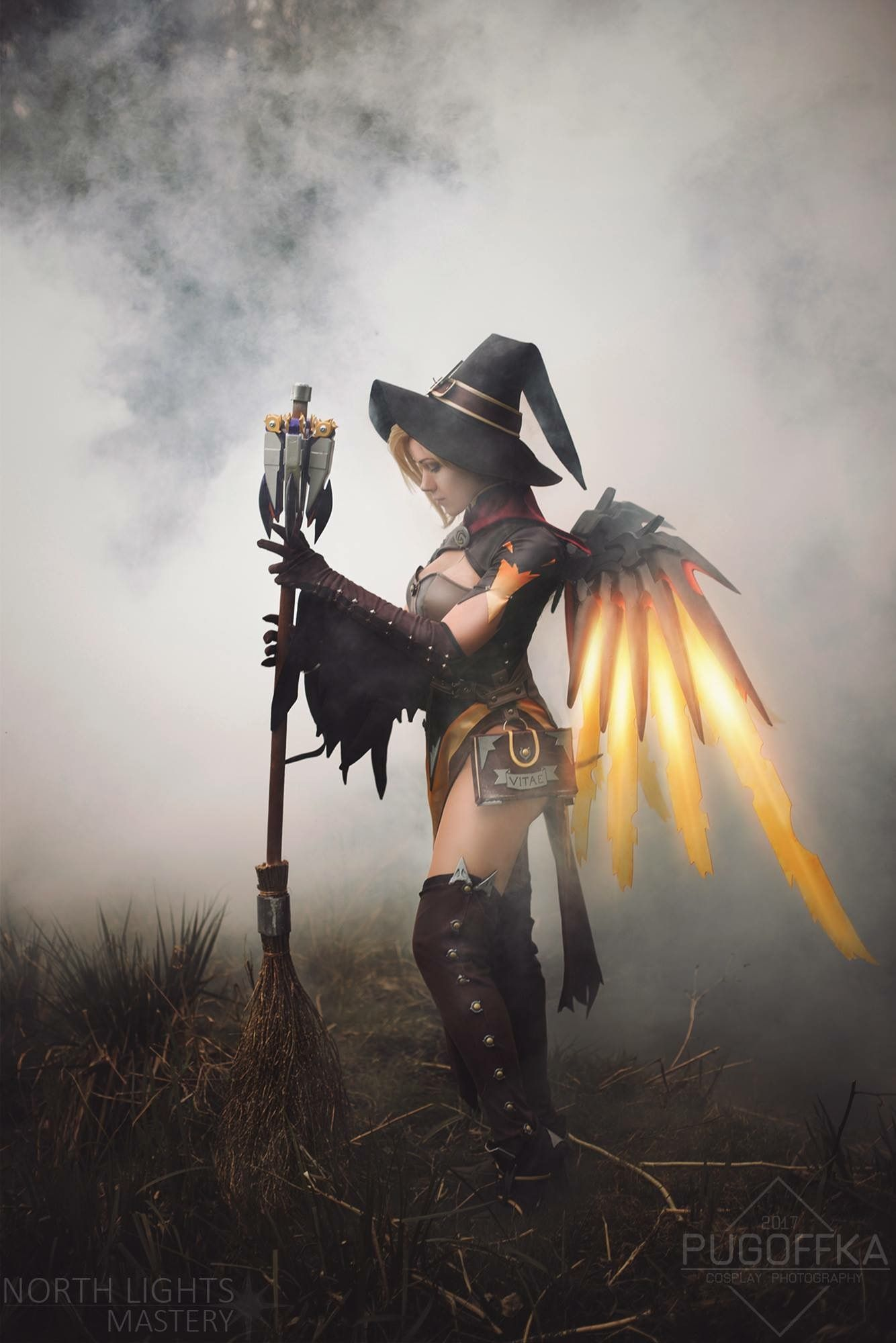 Mercy Witch Cosplay Costume Overwatch Halloween Legendary