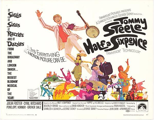 Half a Sixpence (UK. 1967) | Movie posters, Movie posters vintage ...